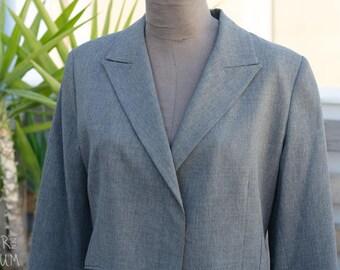 90's Gray Wool Jacket - Happening Brand
