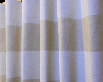 SALE Oatmeal Beige Linen Cabana Horizontal Stripe Curtains, Rod Pocket  63 72 84 90 96 108 or 120 Long x 24 or 50 Wide,