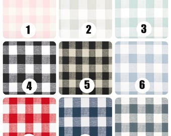 Black and White Buffalo Check Curtains, Rod Pocket 84 96 108 or 120 Long x 24 or 50 Wide, Custom Color Choice