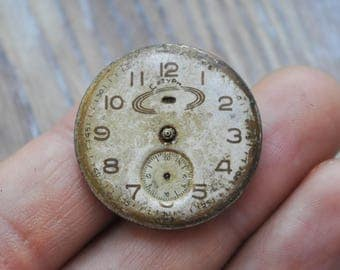SATURN Vintage Soviet Russian wrist watch movement.