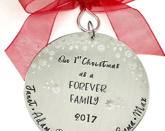 Adoption Ornament- Forever Family Ornament- Adoption Gifts - Dayed Family Ornamnets - The Charmed Wife- Gifts for Parents Adopting