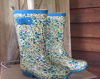 The Childrens Place Rubber Rain Boots, Re-purposed Fresh Flower Vase, Spring Home Decor, Rain Showers