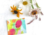 Mini, Hand-painted, Original Encouragement Cards - Pack of 5