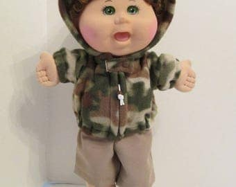 """14"""" Boy Baby Cabbage Patch Camo Hooded Jacket"""