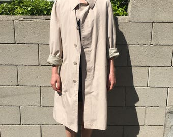 Tan TRENCH COAT 1980s