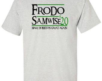 Frodo Samwise Campaign T-Shirt The Hobbit Lord of the Rings
