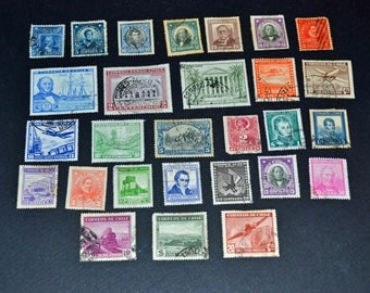 Chile 28 stamps many very old and very rare