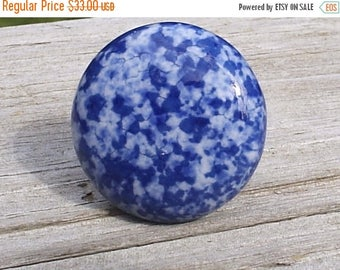 On Sale 11 Blue and White Speckled Ceramic Cabinet Knobs Drawer Pulls