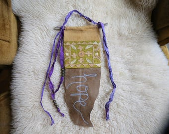 RESERVED FOR HEATHER - Custom Word of the Year Gypsy Altar Prayer Flag