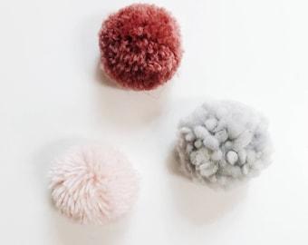 Warm Pom-Pom Magnet Trio