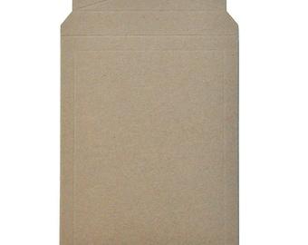 "12.75"" x 15"" - Extra Rigid Tab Lock - 100% Recycled Rigid Mailer - Bundle of 10"