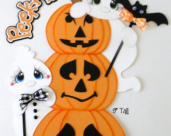 Halloween Pumpkins Ghost Pre-Made Paper Piecing Die Cuts for Scrapbooks Cards Borders danderson651