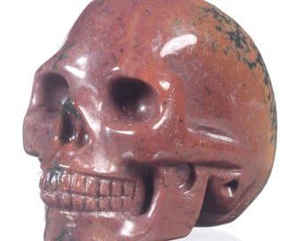 Natural Ocean Jasper Carved Human Skull