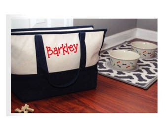Personalized Pet Carrier | Canvas Tote Pet Carrier | Monogrammed Pet Tote | Personalized Pet Tote | Monogram Dog Carrier | Puppy Carrier