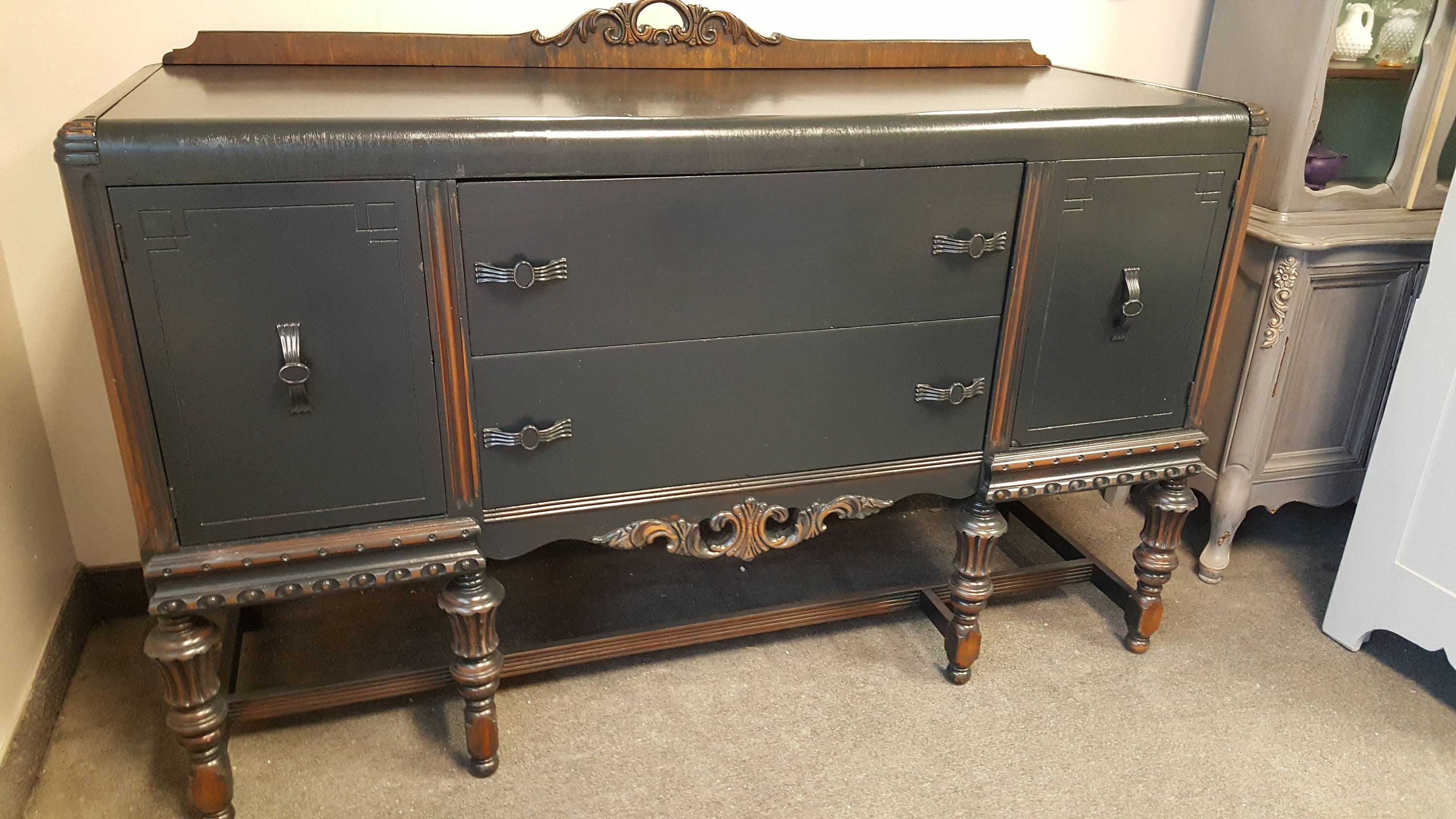 Vintage Shabby Chic Buffet, Sideboard, Server, PICK Up ONLY, Media Center,  Tv Console, Liquor Cabinet, Distressed, Rustic, Farmhouse,