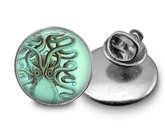 Octopus Pin/ Squid Pin/ Lapel Pin/ Kraaken Pin/ Octopus Jewelry/ Octopus Gift/ Squid Pin/ Squid Jewelry/ Kraaken Gift/Magnet