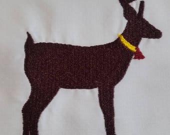Deer Embroidered Quilt block
