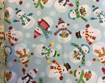 Makeower 1584 Frosty  100% Cotton Fabric by the Half Metre
