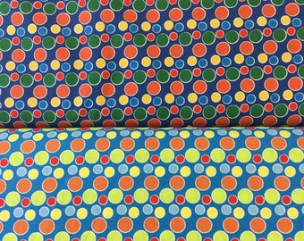Multicoloured spots cotton fabric in 2 colours By The Half Metre