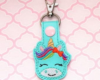 Unicorn snap tab, Unicorn keychain, Cute unicorn keychain,Unicorn keyfob, Unicorn snap tab, Smiley unicron snaptab, Smiling unicorn keychain