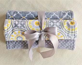 BURP CLOTH SET of 3, Neutral Burp Cloths, Baby Shower Gift Set, Burp Cloth Set