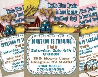 Little Blue Truck Invitations - Little Blue Truck Birthday Party - Little Blue Truck Birthday Party Invites - Birthday Party Invitations