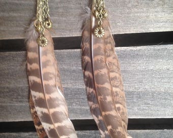 Bohemian Wild Feathered Earrings