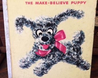Vintage Muggsy, The Make Believe Puppy Rand McNally Elf Book