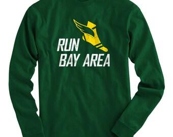 LS Run Bay Area V3 Tee - Long Sleeve T-shirt - Men S M L XL 2x 3x 4x - Bay Area Running Shirt, Bay Area Jogging Shirt, Run The Bay Shirt