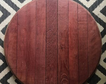 Authentic French Wine Barrel Lid Lazy Susan