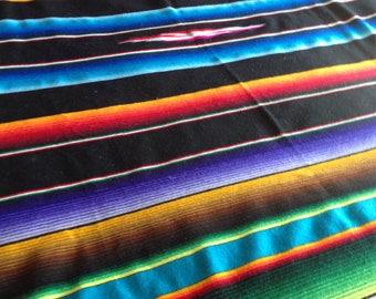 Vintage Mexican Blanket / Tribal Blanket/ Serape / Southwestern Decor Large 85 x 49