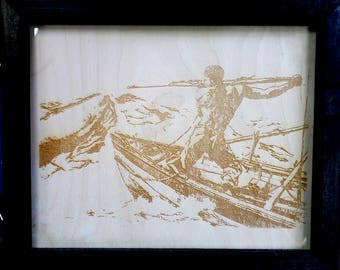 Engraving of a George Gale etching of a whaling scene