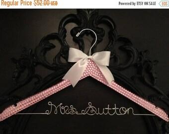 LOVE SALE Bridal BLING Hanger / Pink Bling Glamorous Wedding Hanger / Personalized Hanger / Brides Hanger / Name Hanger / Wedding Hanger