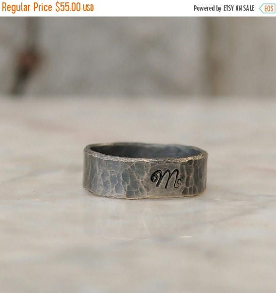 ON SALE Personalized Ring  - Sterling Silver Personalized Initial Ring