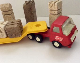 Tonka truck and Trailer - 80s - made in Canada - Man Cave Decor - Tonka truck collector gift