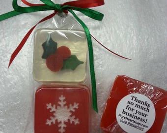 Christmas Favors, 2-Piece Soap set, choice design