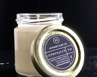 Lumberjack >> non gmo soy candle/phthalate free/minnesota made