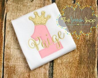 Princess Crown Number Birthday Shirt