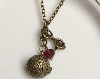 Prayer Box Locket Necklace