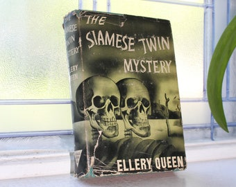 Ellery Queen The Siamese Twin Mystery Vintage 1941 Book