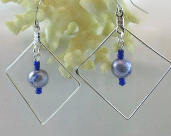 Blue Pearl Earrings - E146