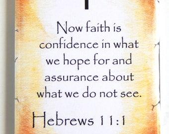 Hebrews 11:1 Bible Verse Fridge Magnet (2 x 3 inches)