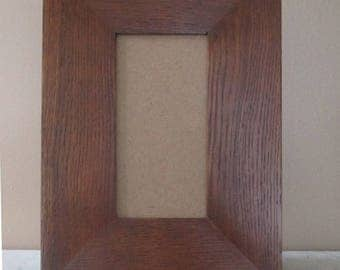 """Arts & Crafts Mission Quarter Sawn Oak 3"""" wide 6"""" X 8"""" Tile Frame For Scott Maco"""