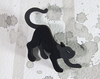 SALE Cat Brooch - Omens Collection