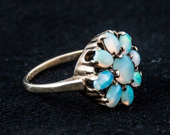 Opal and Yellow Gold ring Size 6