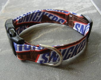 SNICKERS cotton Dog Collar candy bar