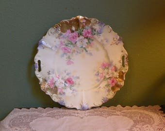 Antique RS Prussia PLATE PLATTER  Cream  Gold Gilt