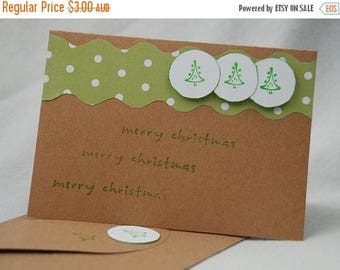 Another Merry Christmas Card Handmade Hand Cut