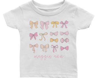 Personalized Baby Bow Tee