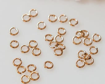 4mm Gold Filled Jump Rings 20 gauge  Open Style - 50pieces  SALE!